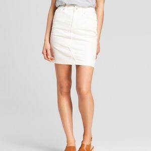 5 for 30!! White Denim Mini Skirt